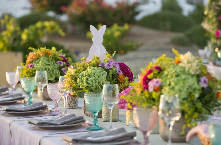 Bunny theme art de la table flower decoration THE EVENT CO