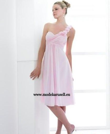 Abendkleid Knielang in Rosa