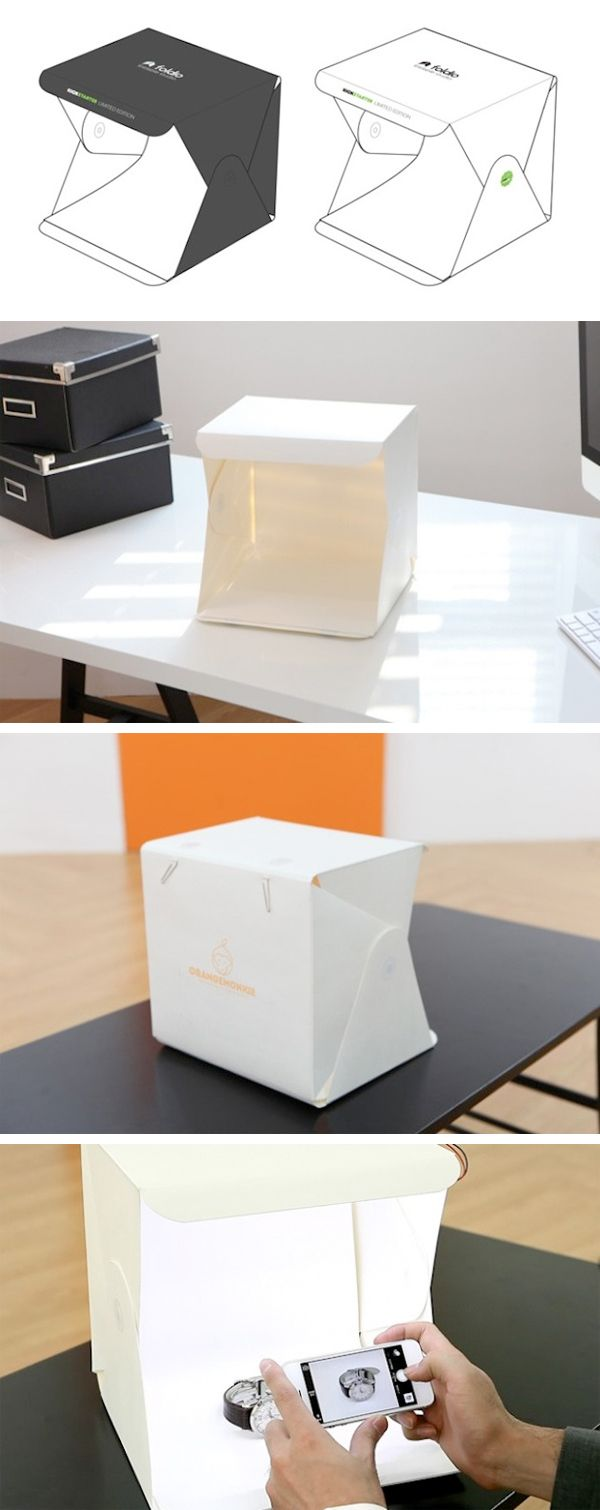 Portable photography studio   Foldio