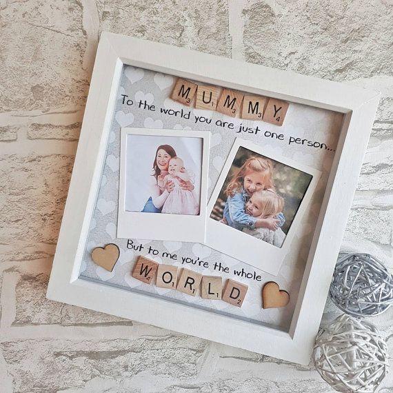 Handmade Personalised Happy Mothers Day Birthday Christmas Card photo Nan maman
