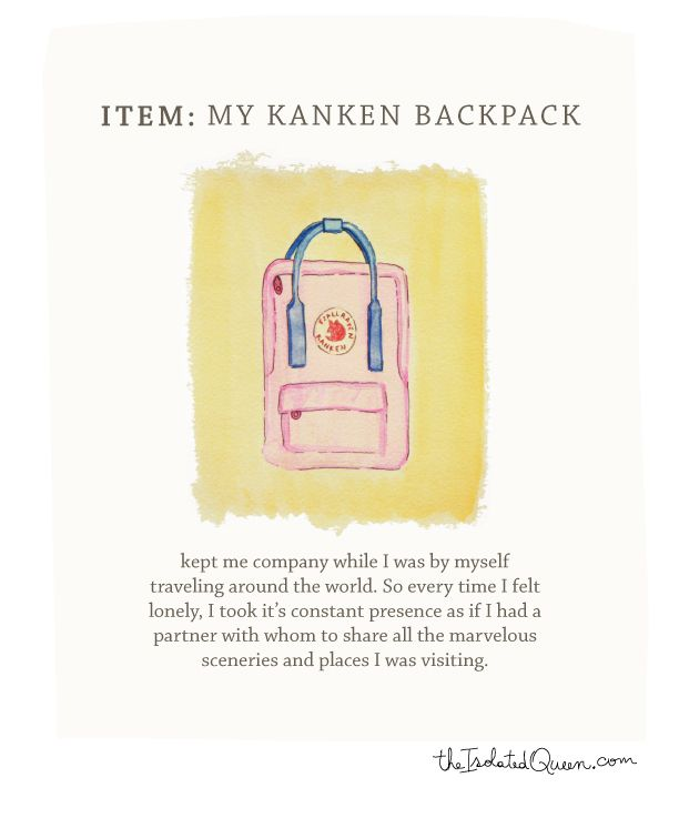 How Fashion marked my life, send us your story about how an item in fashion marked a moment in your life, and we will illustrate for you. First edition, The isolated Queen's Kanken backpack! read the story at http://theisolatedqueen.com/?p=254