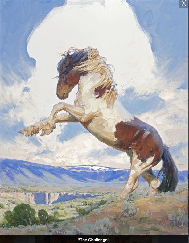 #horse #painting by Loren Entz