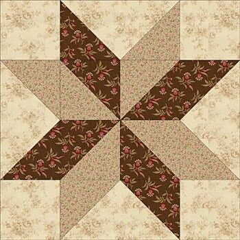 Double pin wheel flower quilt patch