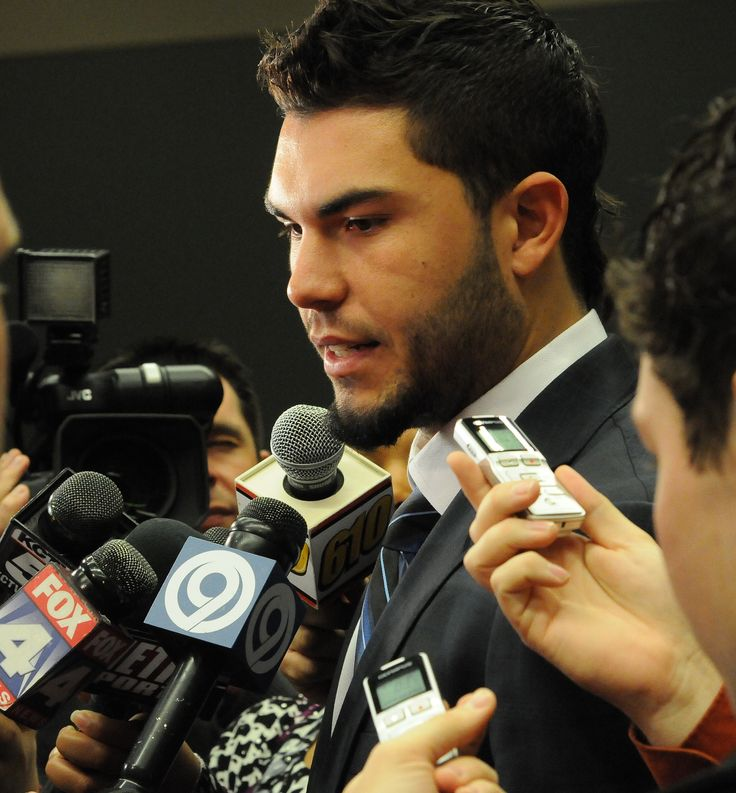 eric hosmer... answering questions about dating the model and addressing rumors of wedding