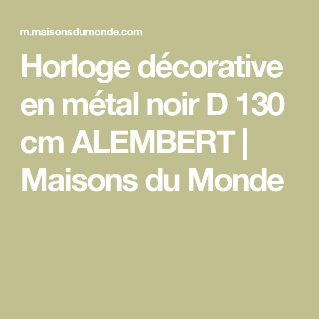 Horloge décorative en métal noir D 130 cm ALEMBERT   Maisons du Monde