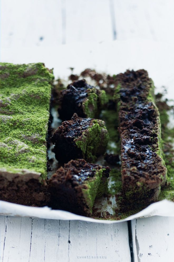 czekoladowe z zieloną herbatą