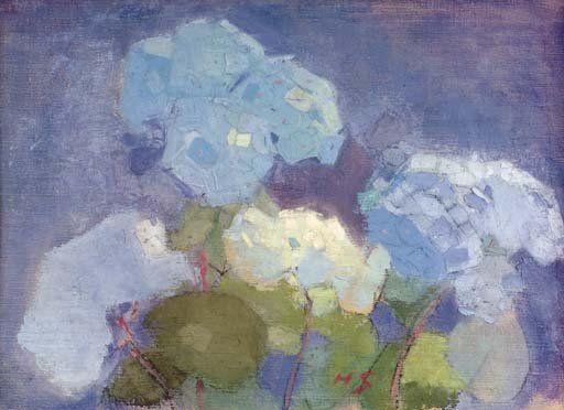 Helene Schjerfbeck. Hortensia (Hydrangea) (o/tempera/c)1915