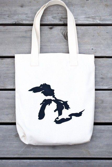 great lakes tote bag from nicole tarasick on #etsy