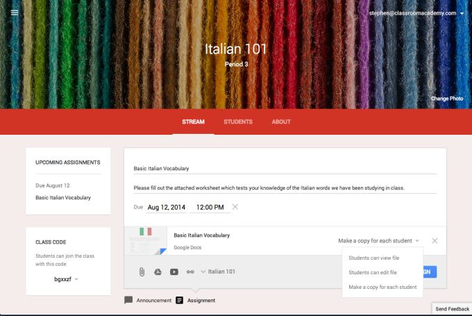 Google Opens Classroom, Its Learning Management Tool, To All Teachers | TechCrunch
