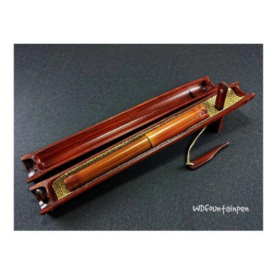 Fountain pen made of bamboo Bamboo fountain pen by WDFOUNTAINPEN