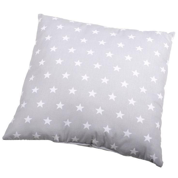 Coussin déhoussable 100% coton motif étoile bicolore 40x40cm ASTRE (marque : Stof)