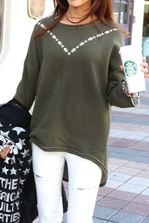 Could DIY this with a bleach pen- sweatshirt makeover FashionGo   Shampoo   SPSS-193