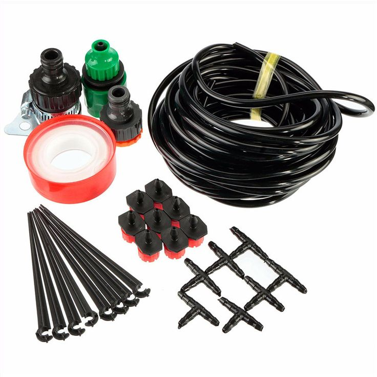 New Arrival DIY Adjustable Size Micro Drip Irrigation System Plant Self Watering Outdoor Garden Hose Kits Tool 8m + 8 Drop Head     Features: 1.You can water all of your plants easily using this micro irrigation system. 2.This set is perfect for patio, atrium and greenhouse plants. 3.It can be adjusted to accommodate troughs, pots, hanging baskets and ...    US $7.98…