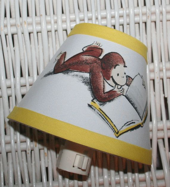 nightlight curious george handmade with pottery barn kids fabric