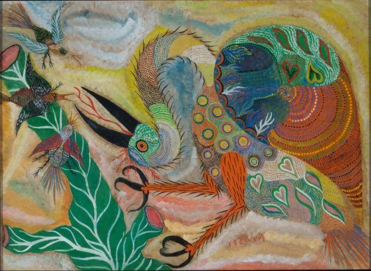 Francisco da Silva (Chico da Silva) Sem título, s.d. Guache sobre papel 53 x 73 cm