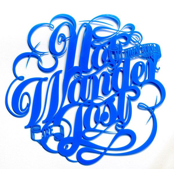 """Back in 5 Minutes"" Typography Exhibition on Behance"