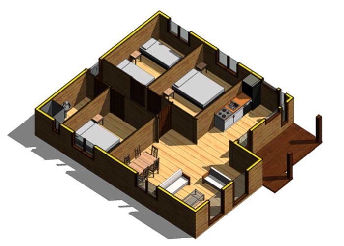 M s de 1000 ideas sobre planos de casas de madera en - Catalogo de casas prefabricadas ...