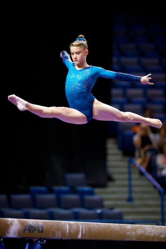 Madison Desch (United States) on balance beam at the 2013 P&G Championships