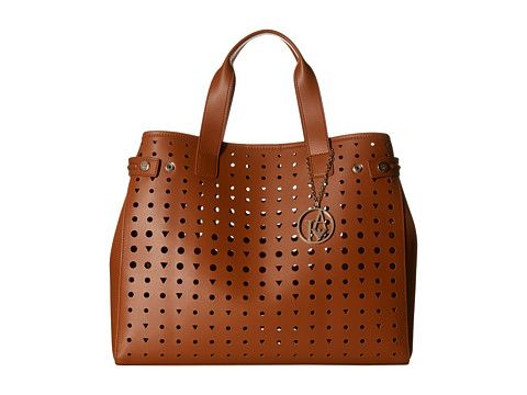 Armani Jeans Perforated Eco Leather Shopping Bag. bag, сумки модные брендовые, bag lovers,bloghandbags.blogspot.com