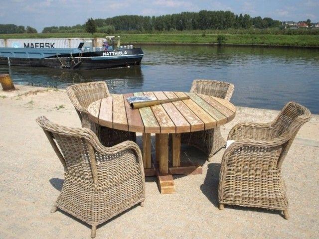 17 best ideas about gartentisch rund holz on pinterest. Black Bedroom Furniture Sets. Home Design Ideas