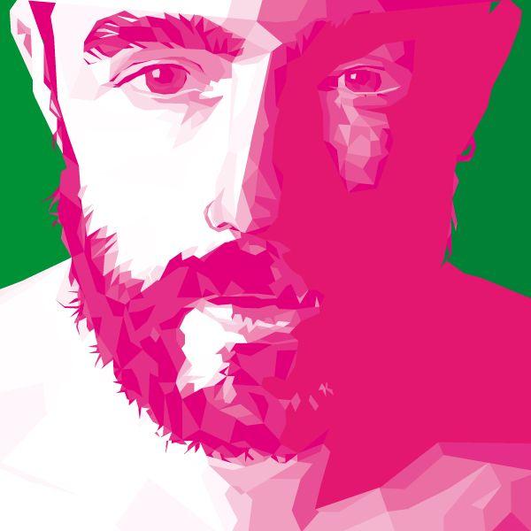 Portrait #lines #vectors #sololaz #art #scruff #bearded