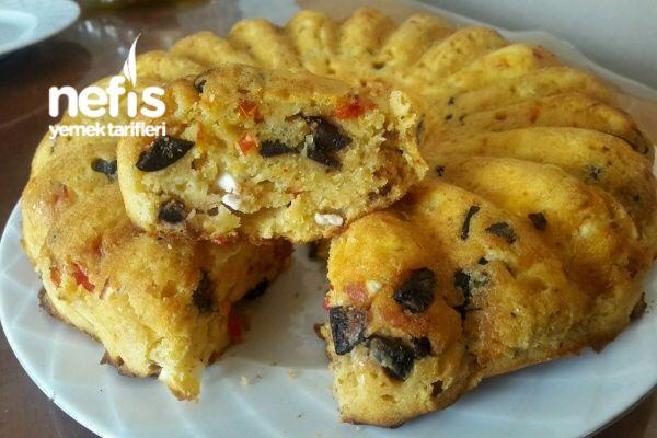 Biberli Zeytinli Kek (Kahvaltı Yerine de Geçen)