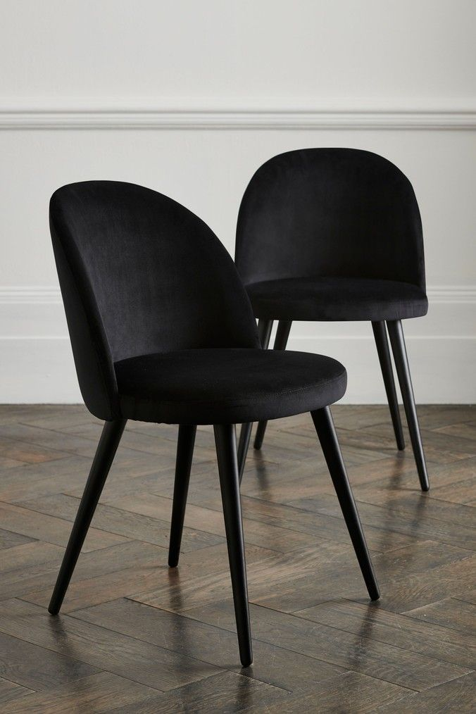 Zola Dining Chairs With Black Legs, Dining Room Chairs Uk Black