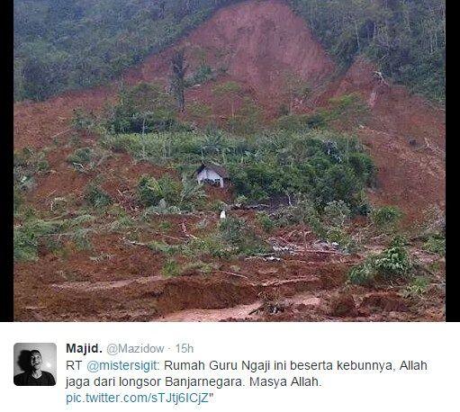 Rumah guru ngaji selamat dari longsor Banjarnegara