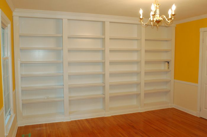 12 best images about built in bookshelves on pinterest for Do it yourself built in bookshelves