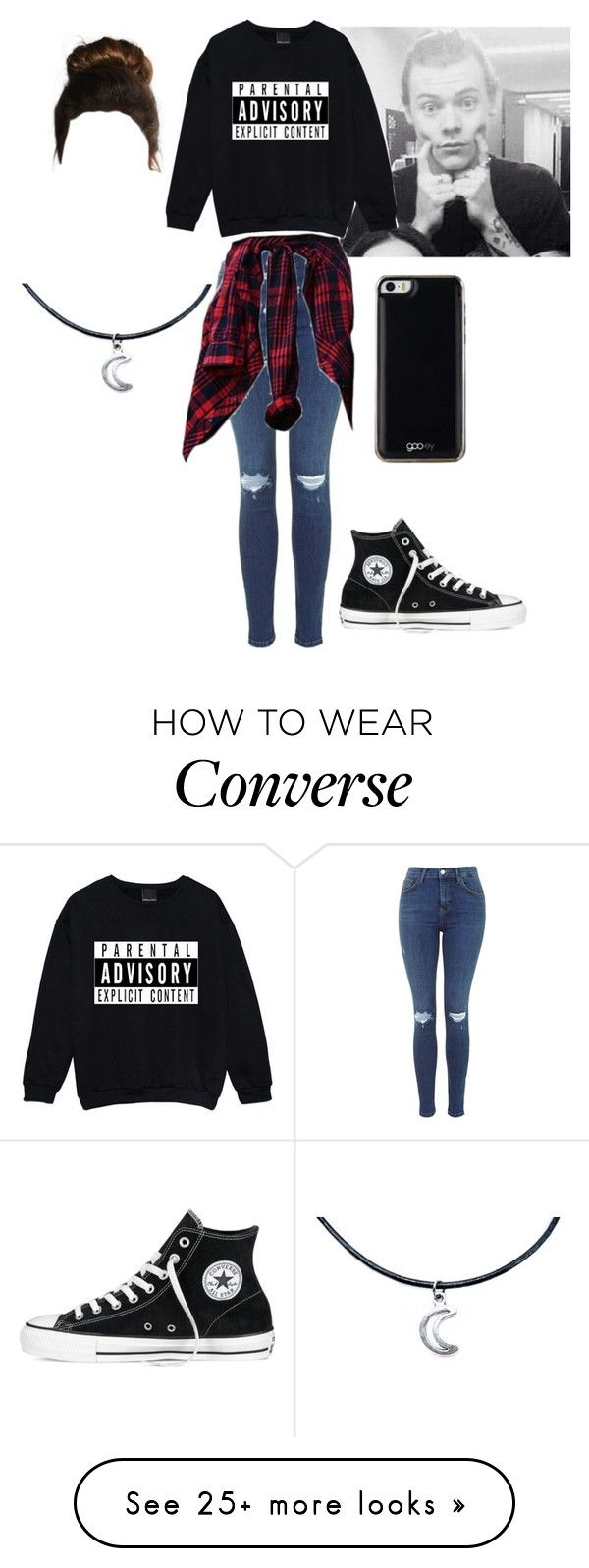 """""""h.s"""" by hella-jena on Polyvore featuring mode, Converse et Gooey"""