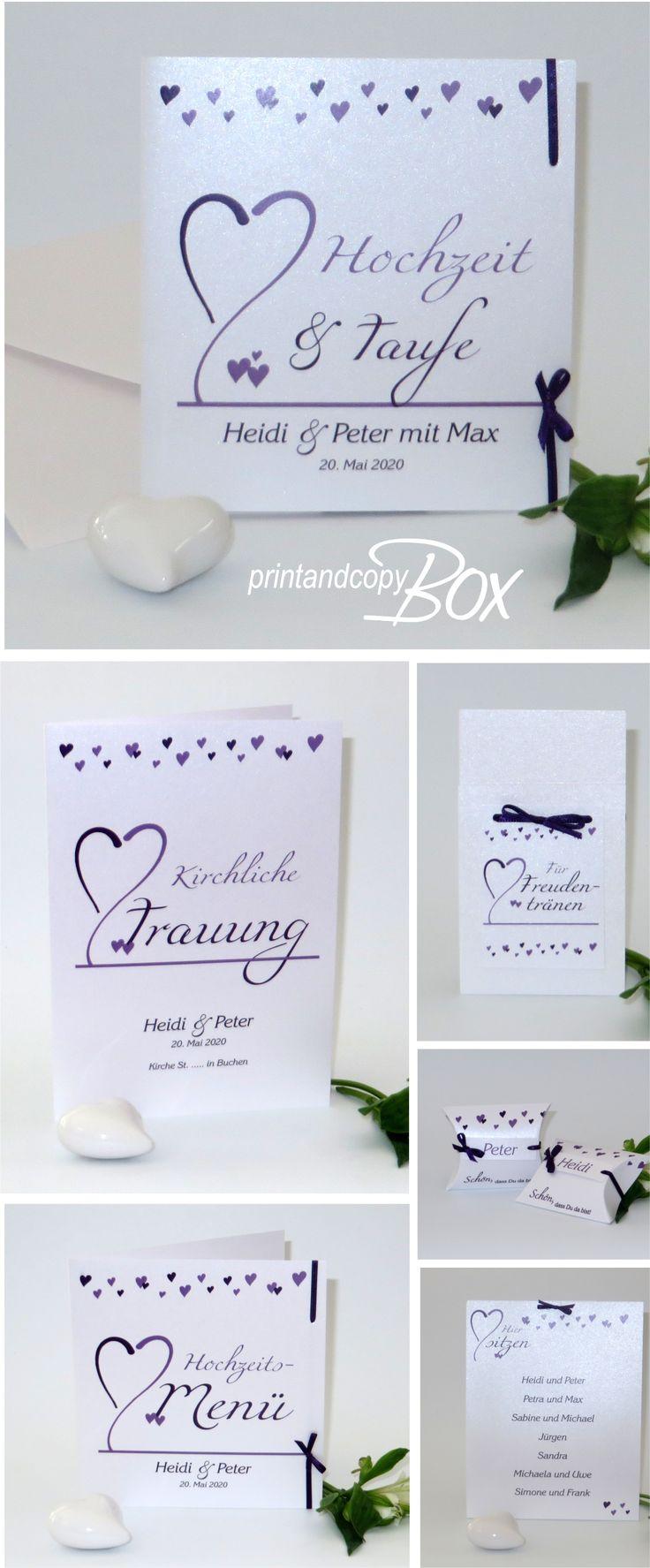 Einladungen Zur Traufe Mit Einem Romantischen Design. Dazu Passend Findet  Ihr Hier Die Gesamte Papeterie