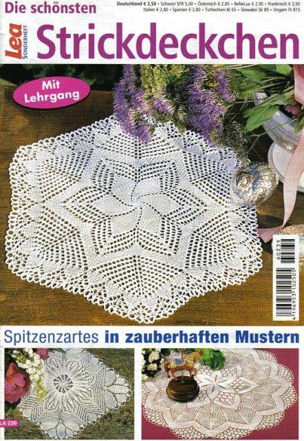 la 239 strickdeckchen - bj mini - Picasa Web Albums #crochetmagazine
