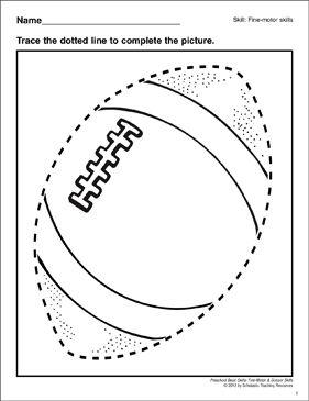 Tracing a Football: Preschool Basic Skills (Fine Motor) by