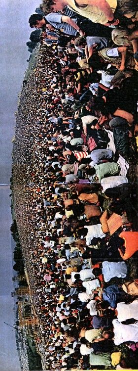 Woodstock, 1969.     I would reallllly like to know this year's Folk Fest line up.