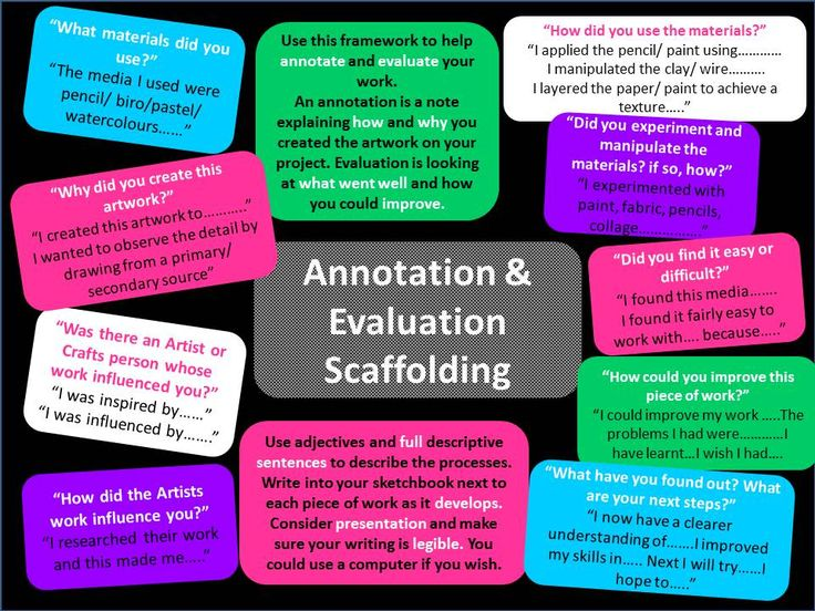 annotation and evaluation support sheet art gcse art btec