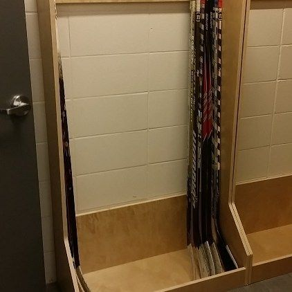 PlayerStall Stick Rack  #hockeyfan #hockeyboy #pucklife #dangle #hockeygame #hockey #smashville #rockthered #sportslocker #sportslockers #sportslockerroom #hockeylockerroom #hockeylocker