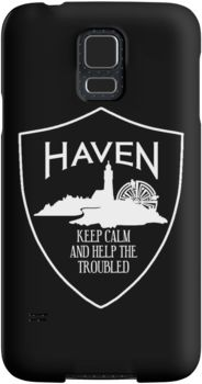 Haven Syfy Inspired Phone Cases/Skins | Haven Keep Calm White Logo Badge | Snap Cases,Tough Cases, & Skins for Galaxy S3-S4-S5-S6-S6 Edge-S6 Edge Plus-S7-S7Edge | iPhone 4s/4 5c/5s/5 6/6Plus SE/5s/5 & iPhone Wallets **All designs available for all models.