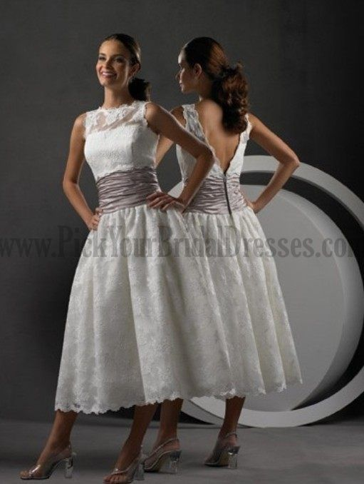 Low Cost Short Wedding DressesLow Tea Length Embroider Lacing Cheap Customer Made Design Dress Under 100 Online
