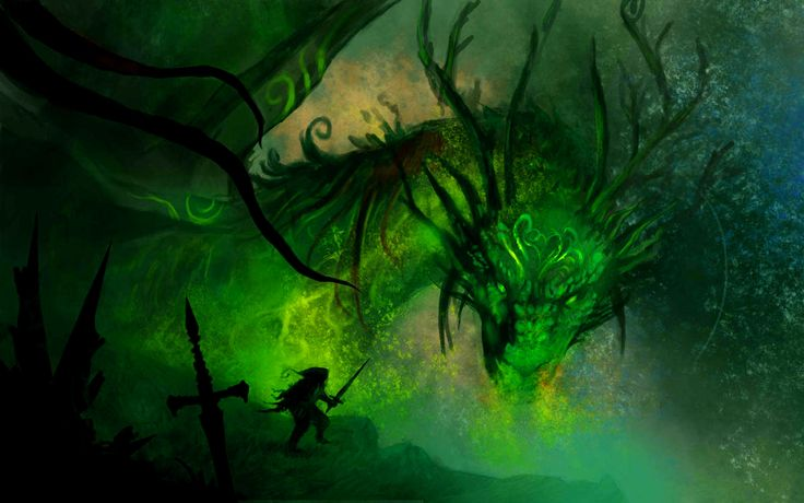 Green Dragon Wallpaper