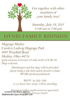 Family Reunion Invite - http://mydianedesigns.blogspot.com/, Family Spotlight, Reunion Invite, Stampin' Up!