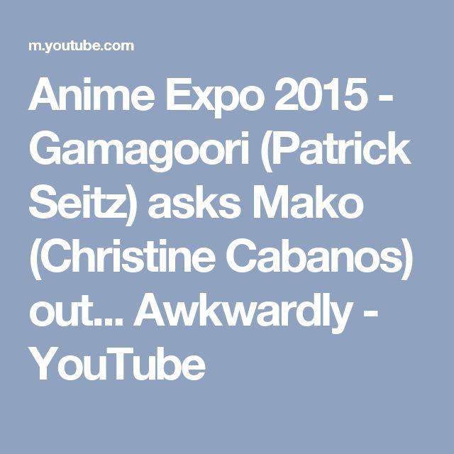 Anime Expo 2015 - Gamagoori (Patrick Seitz) asks Mako (Christine Cabanos) out... Awkwardly - YouTube
