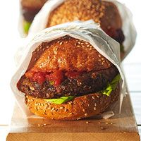 Black bean nacho burger. Had these for two meals in a row, they're that good!: Black Beans Burgers, Meatloaf, Fit Magazines, Burgers Vegetarian, Beans Nachos, Nachos Burgers, Burgers Recipes, Vegetarian Burgers, Vegetarian Recipes