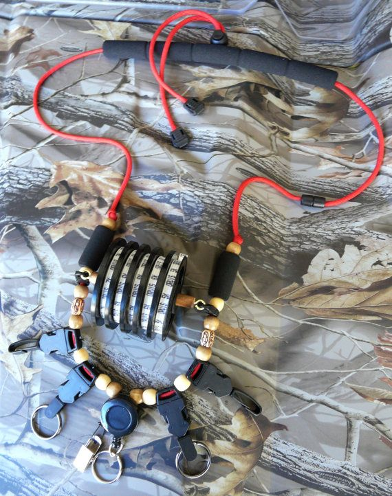 Fly Fishing Lanyard Red Special Bundle Deal by GoldenTroutLanyards, $39.95