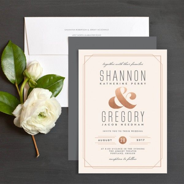 Chic Ampersand Wedding Invitations by Jennie | Elli