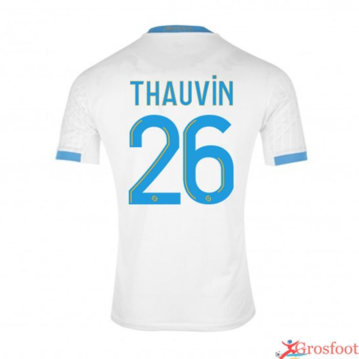 Grosfoot Maillot Marseille Om Thauvin 26 Domicile 2020 2021 Maillot De Foot Marseille Maillot De Foot Maillot