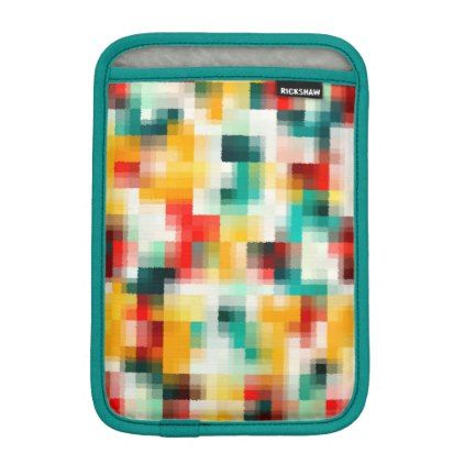 Red Blue Green Yellow White Abstract Pattern Sleeve For iPad Mini - cool gift idea unique present special diy