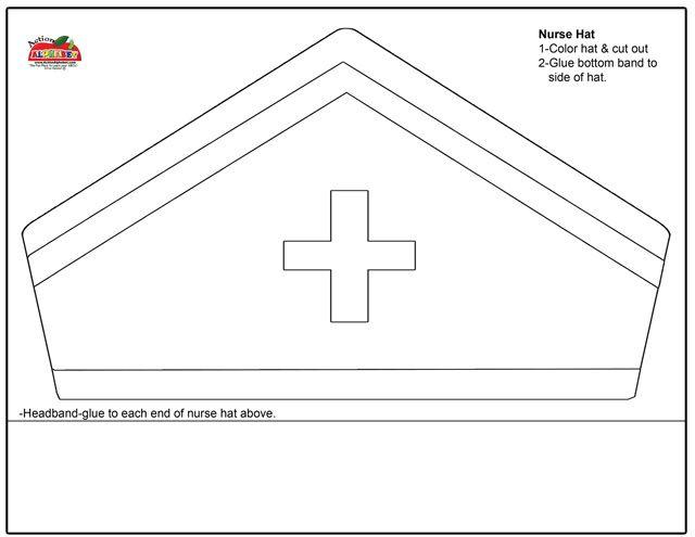 Nurse cap coloring pages ~ Community Helper Art:Nurses Hat | Community Helpers Study ...