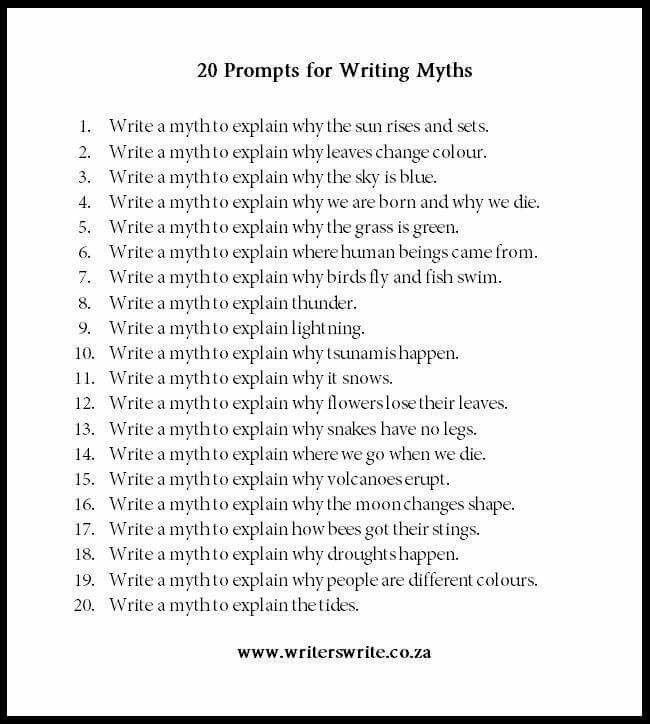 20 prompts for Journaling…                              …