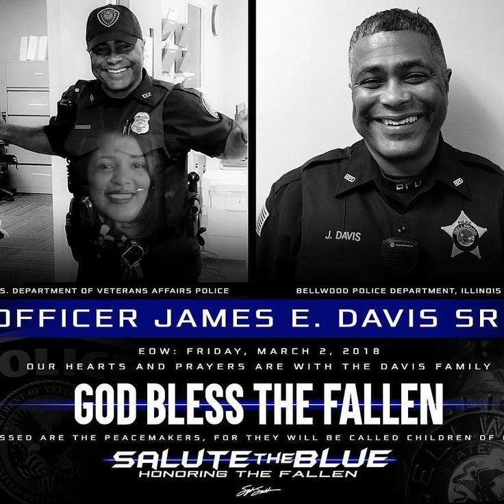 HONORING THE FALLEN: Rest In Paradise. Officer James E. Davis Sr. and his wife have been identified as the victims of the Central Michigan University shooting. The 19-year-old suspect is believed to be their son. Officer Davis was a full time U.S. Veterans Affairs Police Officer at the Jesse Brown VAMC in Chicago, IL and a part time Officer for the Bellwood Police Department, IL. May he and his wife rest in eternal peace | - @salutetheblue - Be a part of BacktheBlue Community…