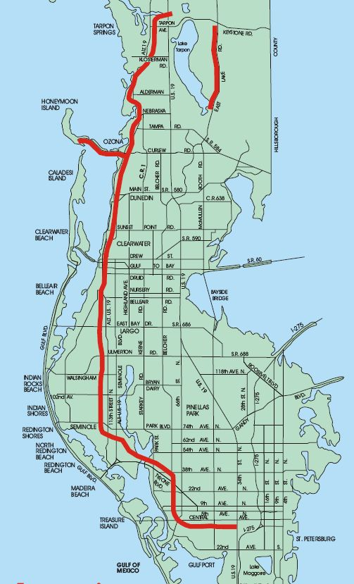 Dunedin Florida Map.Map Of The Pinellas Trail Hurry Spring March 2014 Fav Places